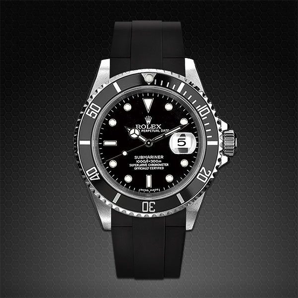 Rubber B  Submariner Non-Ceramic Velcro Series Jet Black XL V113-BK-XL-SNC