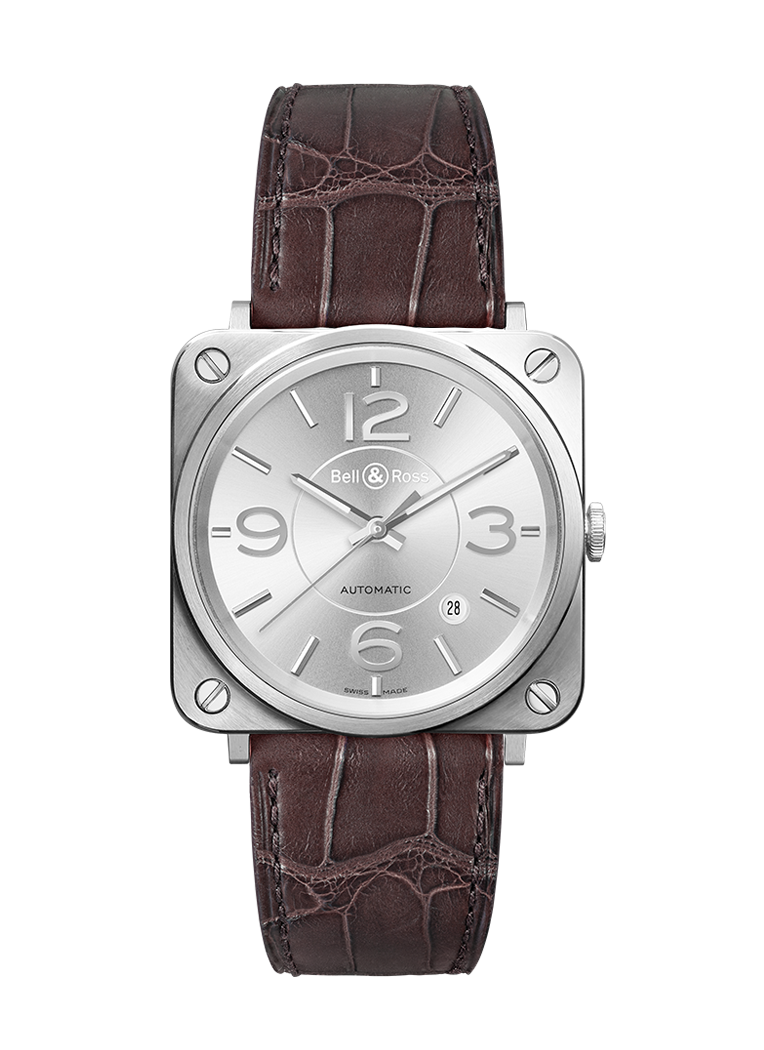 Bell & Ross BR S OFFICER SILVER BRS92-SI-ST/SCR