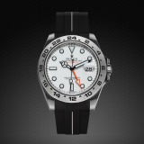 Explorer II New 42 Classic Series VulChromatic Jet Black Arctic White