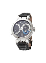 Excenter Timezone Mens Manual in White Gold