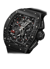 RM 11-02 Automatic Flyback Chronograph Dual Time Zone Jet Black