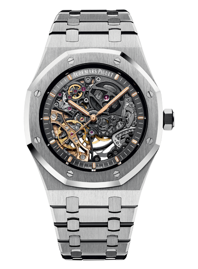 Audemars Piguet DOUBLE BALANCE WHEEL OPENWORKED 15407ST.OO.1220ST.01