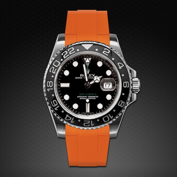 Rubber B  GMT Master II Ceramic Classic Series Mandarin Orange M103CD-OR-GMTMII