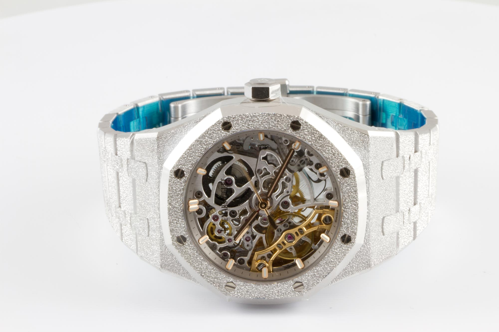 Часы Audemars Piguet Double Balance Wheel Openworked 15466BC.GG.1259BC.01 — additional thumb 1