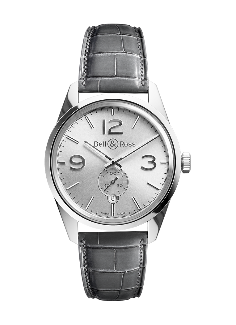 Bell & Ross BR 123 OFFICER SILVER BRG123-WH-ST/SCR